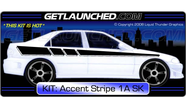 Racing Stripe Car Graphics 1A