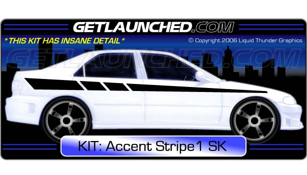 Racing Stripe Decals 1
