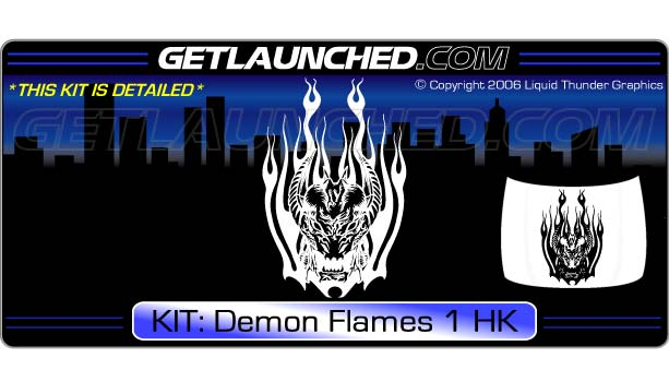 Demon Flames 1 Hood Graphic