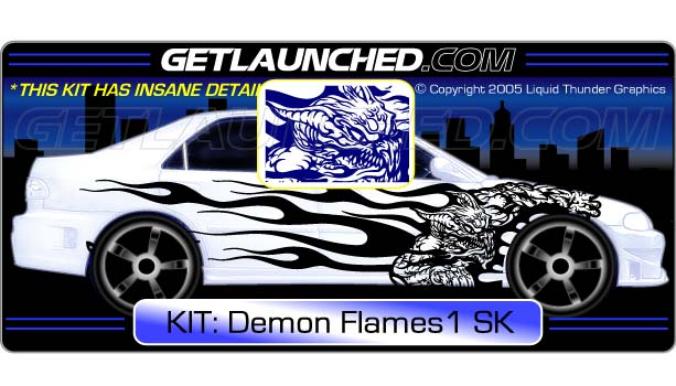 Demon Dragon Car Decals