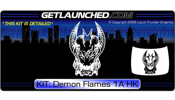 Demon Flames 1A Hood Graphic