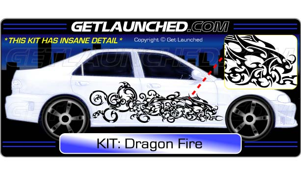 Dragon Fire Decals