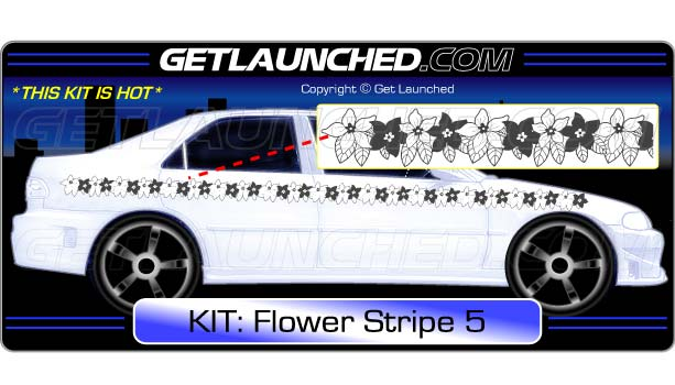 Flower Stripe Decals 5