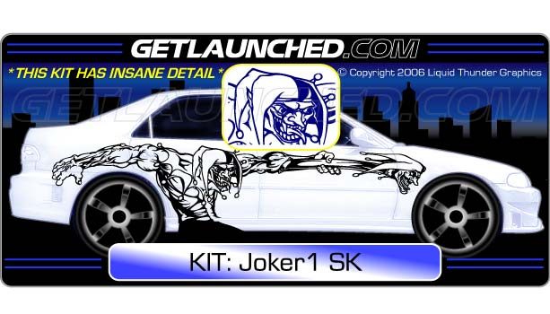 Joker Car Decals 1