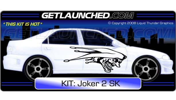Clown joker car graphics 2