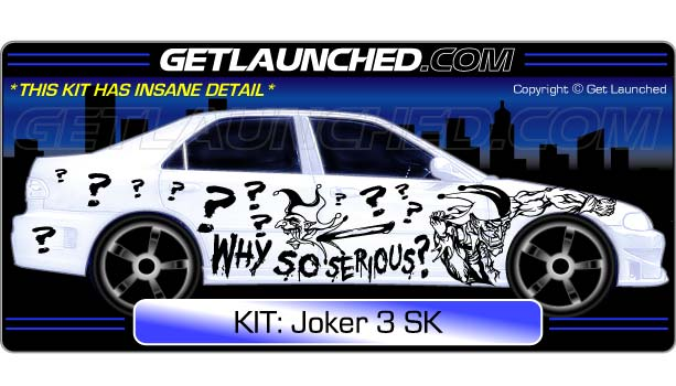 Joker Jester Car Decals 3