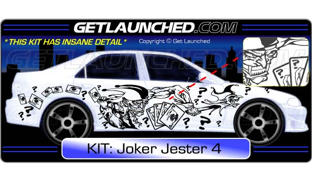 Joker Jester Car Decals 4