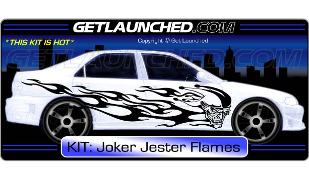 Joker Jester Flames Decals