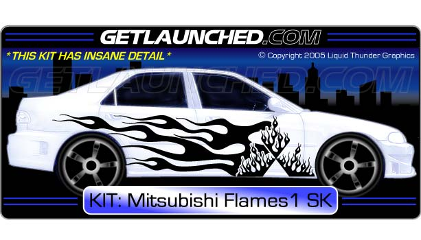 Diamond Flame Car Graphics 1