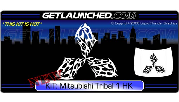 Mitsubishi Tribal 1 Hood Graphic