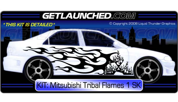 Star Tribal Flames Decals 1