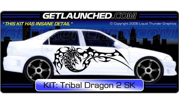Tribal Dragon Car Graphics 2