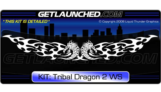Tribal Dragon Windshield Decal Kit 2