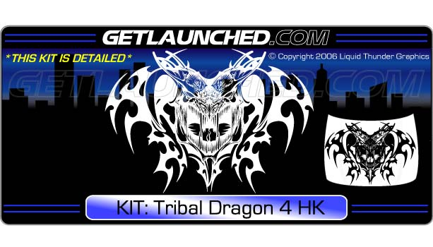 Tribal Dragon Hood Graphic 4