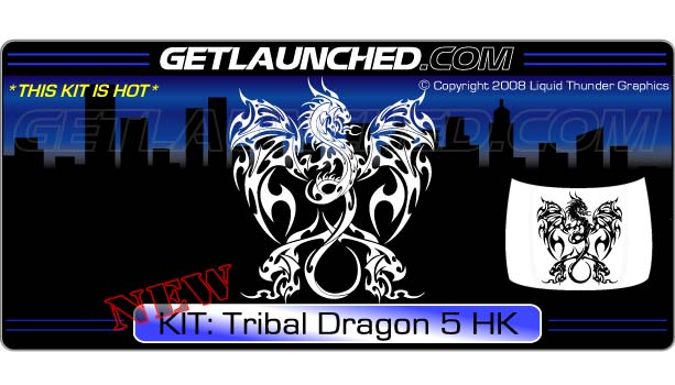 Tribal Dragon Hood Graphic 5