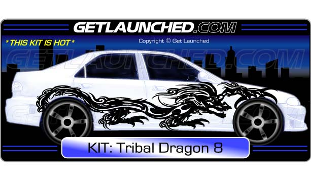 Tribal Dragon Car Decals 8