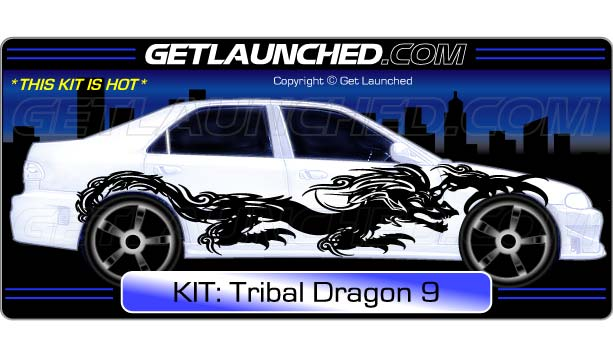 Tribal Dragon Car Decals 9