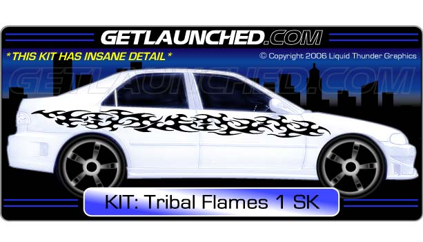 Tribal Flames Car Decals 1