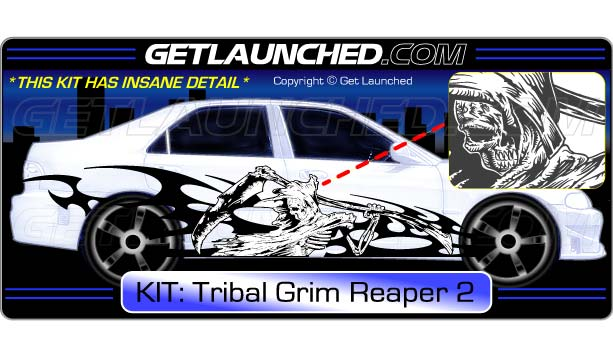 CUSTOM Tribal Reaper Decals 2 Color