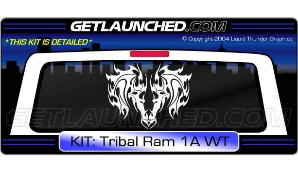 Tribal Ram Window Tailgate Decal Graphic 1A