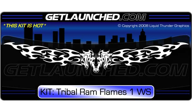 Tribal ram srt 4 windshield decal 1