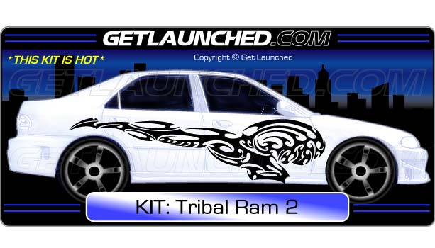 Tribal Ram Charger Decals 2