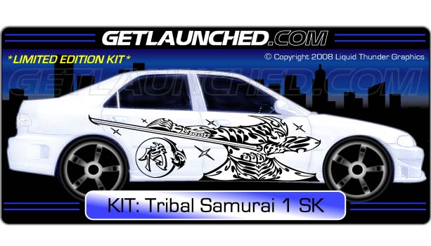 Tribal Samurai Kanji Vinyl Car Graphics