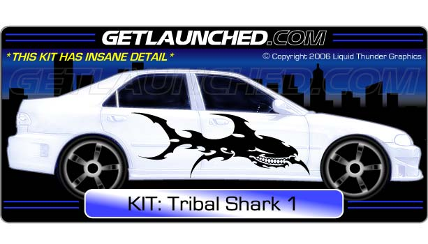 Tribal Shark Car Decals