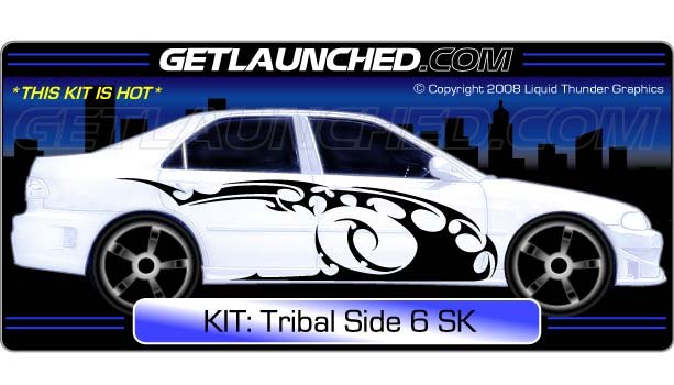 Tribal Side 6 Car Graphics