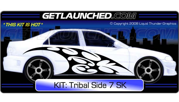 Tribal Side 7 Car Graphics
