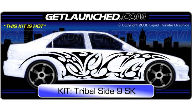 Tribal Side 9 Car Graphics
