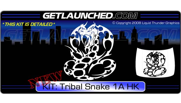 Tribal Snake Hood Graphic 1A