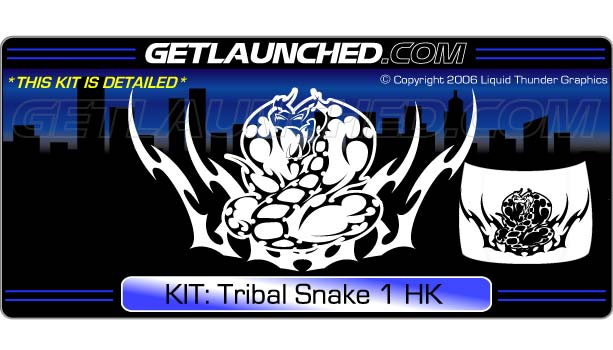 Tribal Snake Hood Graphic 1