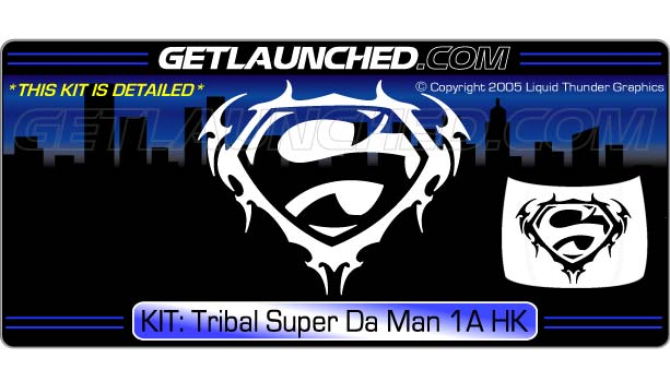 Tribal Super Da Man Hood Graphic 1A