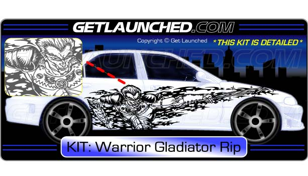Warrior Gladiator Rip Decals