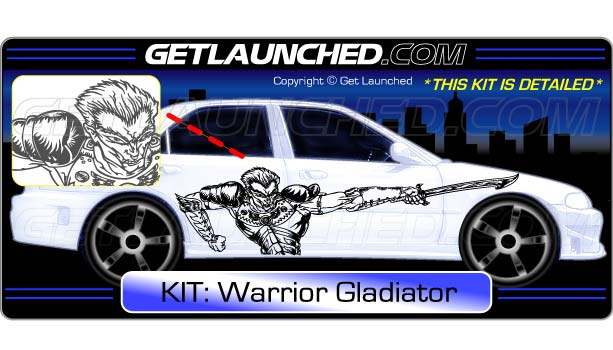 Warrior Gladiator Car Decals